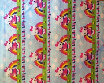 Hello Kitty Rainbow  Fabric 1 Yard