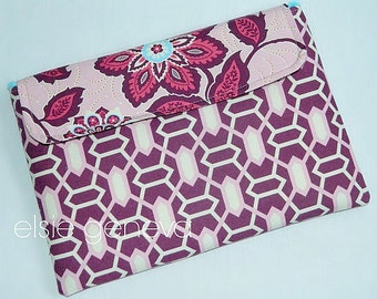 Chrome Keyboard Case Ready to Ship Purple Pink Geometric and Floral MacBook Air Laptop Chrome Book Chromebook Sleeve Case