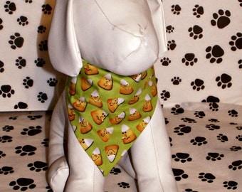Halloween Dog Bandana - Candy Corn, fall, autumn, humorous, dog costume