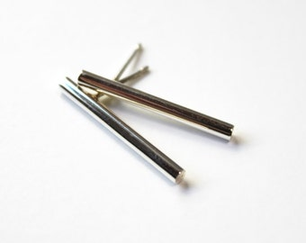 IN STOCK! Linear Earrings Silver (long)