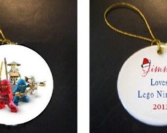Adorable Lego Ninjago Christmas Ornament PERSONALIZED