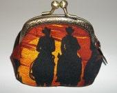 Cowboy Coin Purse - Metal Frame coin purse -  Pouch  -  Bags and Purses  - cowboy - coin purse - small coin purse - Accessories