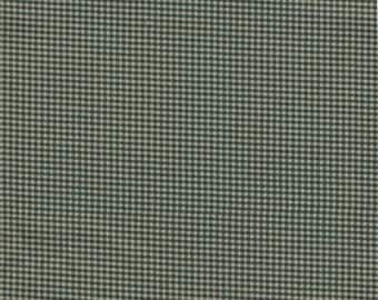 Vintage Dark Kelly Green & Cream 1/8 Inch Check Cotton Fabric ~ 1 Yard  Long  By 44 Inches Wide Material ~ J 4
