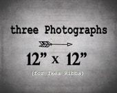 IKEA Ribba Set of 3 Prints at 12x12 - Three 12x12 Photographs Save 40%