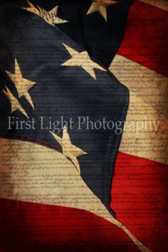 American Flag photograph, Patriotic Art, Photo of American Flag, American Flag Art, Red White Blue, Stars and Stripes, Flag Home Decor 8x12