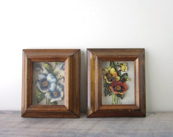 Flower Wall Hangings by Lois Mae Thayer 3D Paper Decoupage