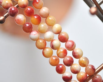 Candy Jade 8mm  Round Beads - (HY02-1)/ 48pcs