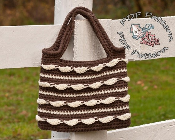 Crochet bag pattern, Crochet tote pattern, purse pattern, textured ...