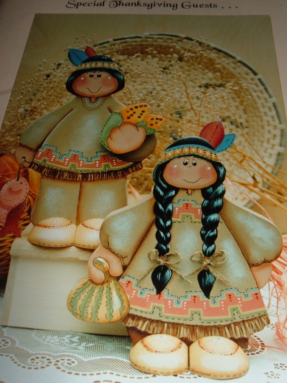 Tole Painting Wood Native American Indian Indians Little Chief