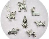 Chihuahua, Pug, Corgi, Dog charm necklace Basset Hound, Pitbull, Dachshund, Yorkie