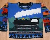 Knitting Pattern: Trains Size Three Years