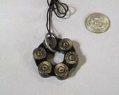 45  REVOLVER speed loader bullet shell necklace