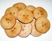 "20  wooden buttons (3"" diameter x 0,35"" thick)"
