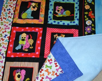 Bright Dogs Quilt No. 4