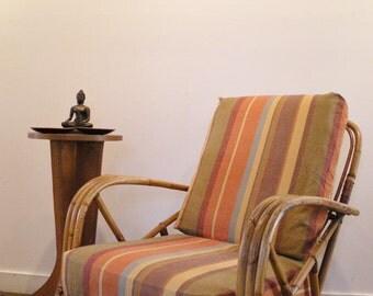Vintage Rattan Lounge Chair