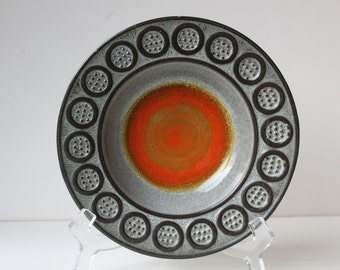 Reduced: Mid Century Pottery Bowl by Mari Simmulson for Upsala Ekeby, Sweden, Signed