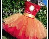IRON LADY Ironman Inspired Tutu Dress - Large 4-6T