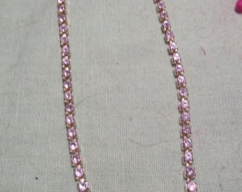 VINTAGE GOLDTONE RHINESTONE necklace