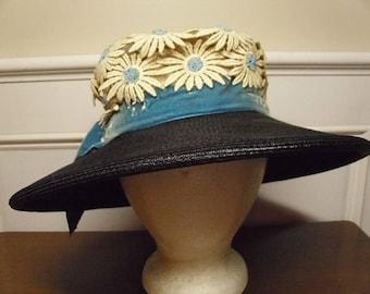 Vintage 1960's  Wide Brimmed Hat