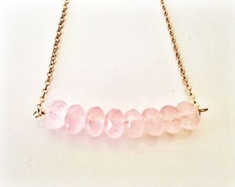 Rose Quartz Pink Necklace
