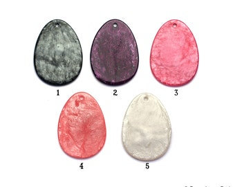 Parisian Pearl Collection Shimmer Glitz Resin Disc Oval Pendant for Cabochons, Cabs, Cameo's, Crystals, YOU customize