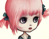Pinky Paperdoll - Full Color Blythe paper art doll - by Mab Graves