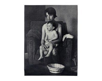 "Sheldon Brody ""Mother and Child"" poster, c.1970.  Graphic design education by Reinhold Visuals"
