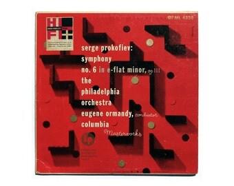 "Alex Steinweiss record album design, 1950. ""Serge Prokofiev: Symphony No. 6"" LP"