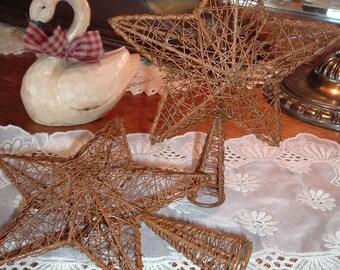 Rusty Metal Mesh Barn Star TreeTopper Shelf Sitter Rustic Americana Primitive Crafts