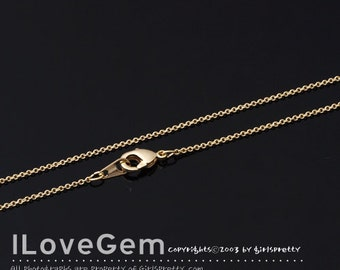 NP-1531 Chain, Gold plated, 225S chain, 16 inch, 2pcs / Thin chain, Dainty Chain, Delicate Chain