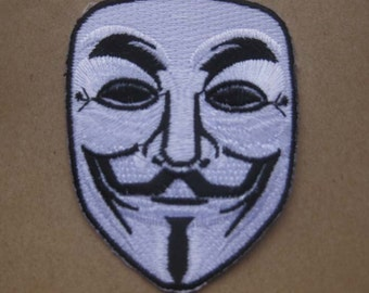 V For Vendetta MASK PATCH badge 6.5x8 cm 2.5x3.25""