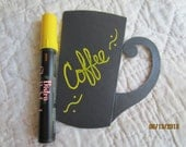 Yellow Chalkboard Markers-  Yellow Chalk Pen-Bistro Chalk Marker for writing on Vinyl Chalkboard-Glass Marker-Dry Erase