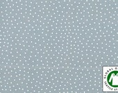 Grey/white Organic cotton fabric, Westfalenstoffe, Germany, 1/2 yard