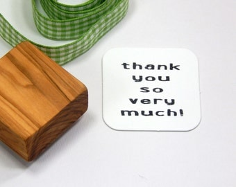 Thank You So Very Much Olive Wood Stamp