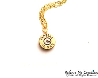 Smith and Wesson Bullet Necklace For Her