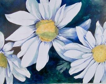 Daisy Painting Print
