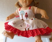 15 and 18 inch Doll Sundress Riley Blake's Red Riding Hood