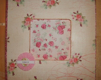 Shabby Roses Decoupaged Picture Frame