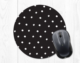 Mousepad Mouse pad Gift for Boss Gift for Coworker Gift Girlfriend Stocking Stuffer Black and White Mouse Pad Black Mousepad Cute Mouse Pad