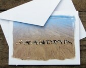 Beach Theme GRANDMA Cards set of 3- beach stone word cards for Grandmother, Grammy, Grandma Birthday Cards, Mothers Day, Grandparent's Day