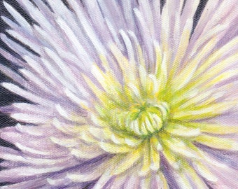 Painting of Flower, Small Original Acrylic Painting, Floral Still Life for Home Decor