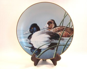 Vintage Federal Duck Stamp Collector's Plate  Lesser Scaup  Anderson