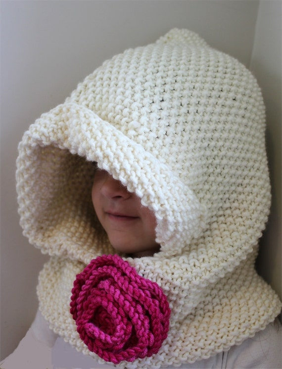 Knitting Pattern Hooded Cowl : KNITTING PATTERN Hooded Cowl PDF