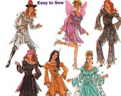 Sz 6/8/10/12  - Simplicity 5363 - Misses' Costume Pattern - Fairy. Gypsy, Princess, Indian, Priate and more