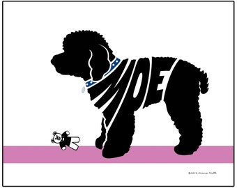 Personalized Toy Poodle Silhouette Print, Dog Breed Name Art, Custom Dog Art Print, Dog Memorial Gift