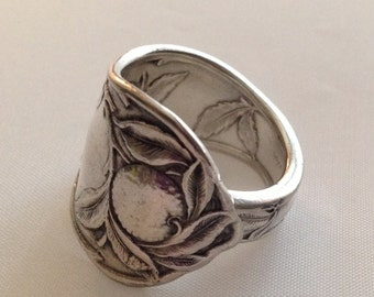 Spoon Ring  SUNKIST 1910 Choose Your Size Vintage Silverplate Silverware Jewelry