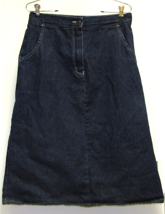 classic denim izod lacoste for midi skirt