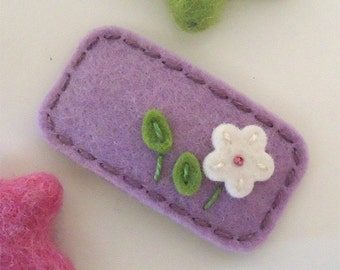 Felt hair clips, Felt flower, Baby girl, Hair accessories, Felt hair bows, School hair clips, Wool felt, Hair barrettes, Girls gift