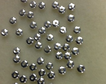 Silver rondelle spacer 4.5 x 2.4 mm NICKEL FREE