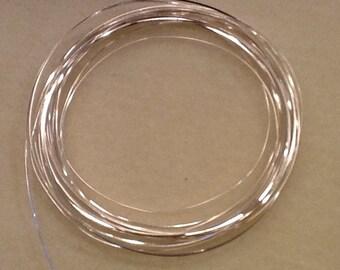 1/2 round wire 21ga non tarnish silver 4 yards